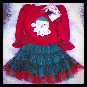 Beautiful Santa Ruffle Dress